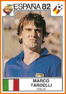 Marco Tardelli of Italy. 1982 World Cup Finals card. Uefa Football, Football Icon, Best Football Players, Good Soccer Players, Arsenal Football, Retro Football, World Football, Soccer World, Football Stickers
