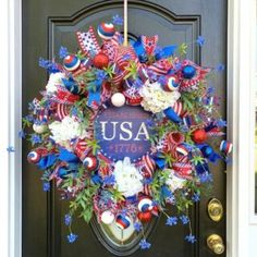 How to Make a Tree Topper Bow Patriotic Crafts, Patriotic Wreath, 4th Of July Wreath, How To Make Wreaths, How To Make Bows, Christmas Tree Toppers, Christmas Wreaths, Tree Top Bow, Funky Bow
