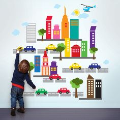 20 Colorful Examples of Wall Stickers | The Finished Box