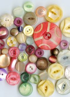Colorful Vintage MOP Buttons (detail)