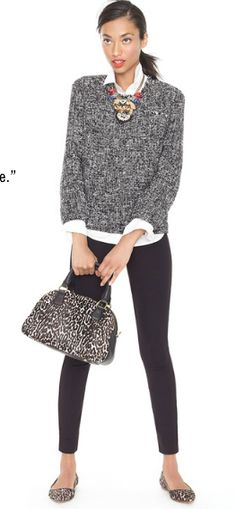 JCREW.   Everything but the bag and necklace. Would use other accessories.