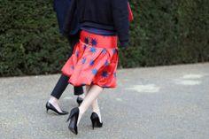 Eye for Detail - statement skirt - monstylepin #fashion #streetstyle #statementskirt #skirt #flaredskirt #print