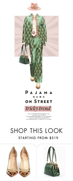 """76. Pajama on Street"" by milva-bg ❤ liked on Polyvore featuring Vision, Gianvito Rossi and rag & bone"