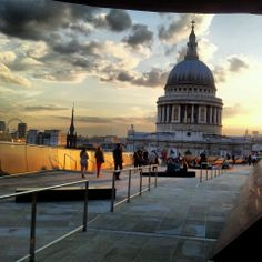 Apparently largest rooftop bar in europe! good for the views. Popular with suits. London