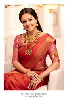ideas for south indian bridal wear colour Indian Silk Sarees, Soft Silk Sarees, Red Saree, Saree Look, Indian Bridal Wear, Indian Wear, South Indian Bride Saree, Bride Indian, Vestidos