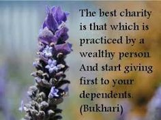 Charity purifies your wealth