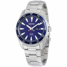 online shopping for Seiko Men's Core Silver Bracelet Band Blue Dial Watch from top store. See new offer for Seiko Men's Core Silver Bracelet Band Blue Dial Watch Casual Watches, Cool Watches, Watches For Men, Stainless Steel Watch, Stainless Steel Bracelet, Seiko Solar, Solar Watch, Seiko Men, Seiko Watches
