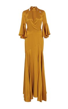 Gold Satin Gown by Temperley London | Moda Operandi