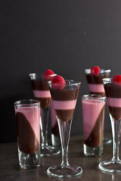 Dark Chocolate and Raspberry Panna Cotta |