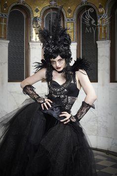 First Annual MYTH Masquerade Ball  ~ Model: Artemis | Gown: Marika Soderlund-Robison | Makeup: Kurumi Uchino | Photo: Daniel Bergeron | www.mythmasque.com | www.facebook.com/mythmasque