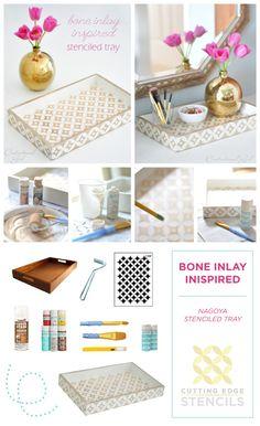 Bone Inlay Inspired DIY .