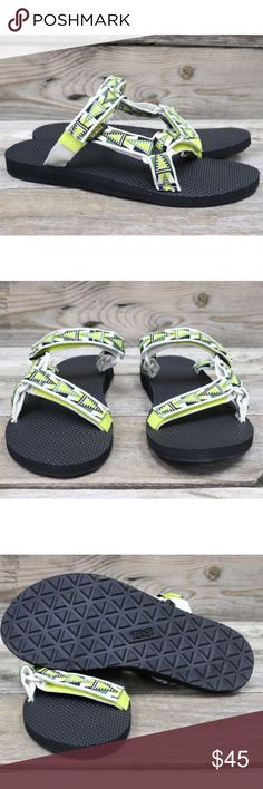 Teva Original Universal Slide Mosaic Atomic Lime New with box 🌵🌈 Teva Shoes Sandals