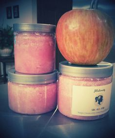 Check out this item in my Etsy shop https://www.etsy.com/listing/207269139/apple-scented-sugar-scrub-made-with