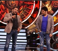 On the sets of #biggboss with @beingsalmankhan for the promotions of #Firangi . Don't forget to tune in 9pm tonight Big G, Kapil Sharma, Comedy, Don't Forget, Fan, Fictional Characters, Comedy Theater, Hand Fan, Fantasy Characters