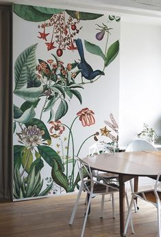 Botanical wallpaper the pattern collective Kids Room Murals, Wall Murals, Kids Rooms, Room Kids, Inspiration Wand, Bedroom Inspiration, Room Interior, Interior Design, Botanical Wallpaper