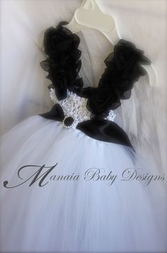 Black and White Tutu Dress / Black and White by ManaiaBabyDesigns, $38.00