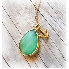 A personal favorite from my Etsy shop https://www.etsy.com/listing/157351155/anchor-jewelry-jade-jewelry-necklace