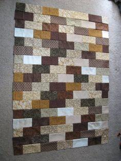 The Brick Wall Quilt Pattern | BlueStripedRoom