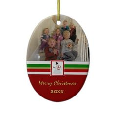 Personalized #Picture #Keepsake #Ornament: Add your picture and the year.
