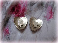 Vintage Sweetheart Heart Silhouette Earrings by suburbantreasure, $20.00