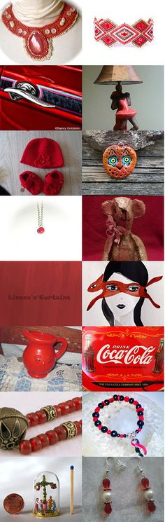 red gift guide  by Irén Jovanovic on Etsy--Pinned with TreasuryPin.com #jewelry