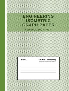 Isometric Graph Paper Notebook : Grid of Equilateral Triangles, Useful for Designs such as Architecture or Landscaping, and planning Printer Projects and Maths Geometry in School Graph Paper Notebook, Isometric Art, School Sets, 3d Printer Projects, 3d Design, Printers, Triangles, Designs To Draw, Maths