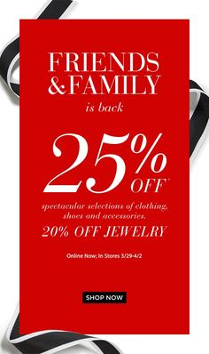 Saks Fifth Avenue: It's happening: up to OFF for Friends & Family. Email Design, Ad Design, Holiday Cards, Christmas Cards, Sale Emails, Sale Promotion, Type Setting, Friends Family, Shop Now
