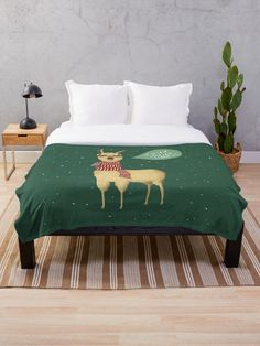A llama ready for the christmas holiday singing Falala lala lala Llama as it should. Christmas Holidays, Christmas Decorations, Sell Your Art, Comforters, Blanket, Bed, Singing, Artists, Inspiration