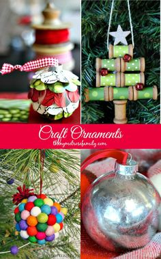 Craft Ornaments perfect for any Christmas Tree