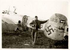 Photo of downed German Nazi Plane. Wwii, Plane, Air Force, German, The Unit, Group, Deutsch, World War Ii, German Language