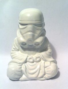 Gloss White Zen Trooper Custom Buddha stormtrooper by kyoob
