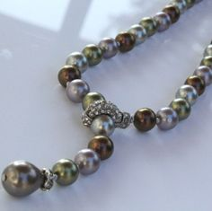 Golnar Jewelry - Pearl necklace Multi color earth tones Tamicka, $99.00 (http://www.golnarjewelry.com/pearl-necklace-multi-color-earth-tones-tamicka/)