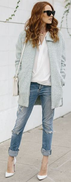 Mint Coat Fall Streetstyle Inspo by Could I Have That ?