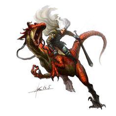 dragon cavalry, Groenendael . on ArtStation at https://www.artstation.com/artwork/kabg0