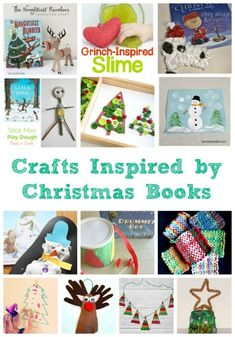 wonderful-craft-ideas-for-children-that-have-been-inspired-by-christmas-books Christmas Activities For Toddlers, Holiday Crafts For Kids, Holiday Activities, Craft Activities For Kids, Toddler Activities, Diy For Kids, Craft Ideas, Book Activities, Christmas Books
