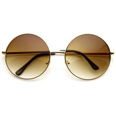 Oversize Vintage Inspired Metal Round Circle Sunglasses 8370 ($14) ❤ liked on Polyvore featuring accessories, eyewear, sunglasses, glasses, glasses/sunglasses, circle sunglasses, circular glasses, oversized circle sunglasses, circular sunglasses and round lens sunglasses