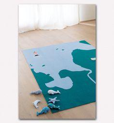 Beispiel-Teppich Nordsee – Bodenschätzchen I Individuelle Kinderteppiche selbst gestalten