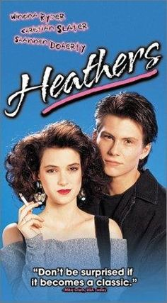 """Heathers - Christian Slater, Wynona Ryder The most classic movie! Before """"mean girls"""" this movie would forever define the bitches that thought they ruled and it even showed you what to do to them. 80s Movies, Movies To Watch, Good Movies, Movie Tv, Awesome Movies, Heathers Quotes, Jd And Veronica, Image Film, Christian Slater"""