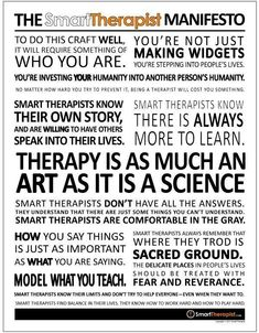 The therapists manifesto