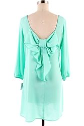 $41.25 this dress is amazing! i want it :) #mint #bow #chiffon #summer #spring #perfectforsummer #summertime #cute #fun