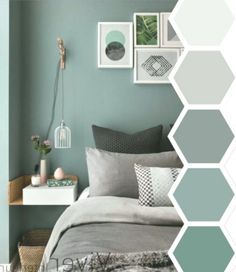 25 Accent Wall Ideas You Surely Want To Try At Home Tags A - bedroom color schemes Zen Bedroom Decor, Bedroom Green, Decor Room, Home Bedroom, Bedroom Wall, Living Room Decor, Bedroom Ideas, Calm Bedroom, Bedroom Rustic