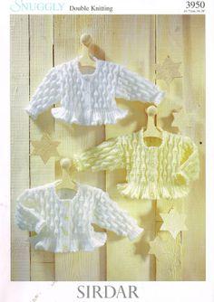 Sirdar 3950 baby matinee coat vintage knitting by Ellisadine, £1.00