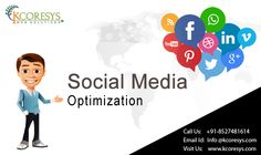 Social media optimization involves connecting the end user through #social #media, updating relevant posts and solving customer queries through social media itself.