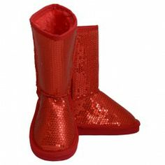 Your little girl will just adore these red faux suede sequin boots from Link.  $19.99