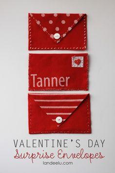 valentine's day felt envelopes via @Erin Landauer See, Landee Do Super stinkin cute!
