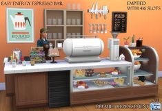 The Sims 4 | Orangemittens' EP01 Get to Work Easy Energy Espresso Bar Emptied with 416 Slots