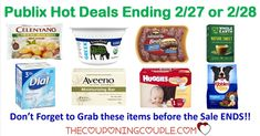 Last Call for Publix Hot Deals Ending 2/27 or 2/28/18. Don't forget to stop by Publix before the sale ends this week to grab some last minute deals.  Click the link below to get all of the details ► http://www.thecouponingcouple.com/last-call-for-publix-hot-deals-ending-2-27-or-2-28-18/ #Coupons #Couponing #CouponCommunity  Visit us at http://www.thecouponingcouple.com for more great posts!