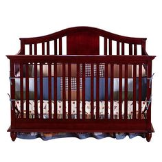 "BSF Baby Addison 4-in-1 Crib - Cherry - BSF Baby - Babies ""R"" Us"