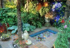 Mediterranean style courtyard garden   #courtyard