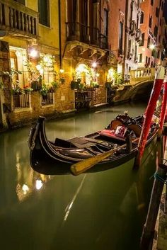 Grand Canal in Venice at night Luego fuimos en un viaje en barco maravilloso.